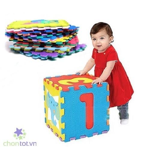 Bộ 40 miếng thảm lót sàn cho bé - ( A-Z ; 0-10 ; + - x : )