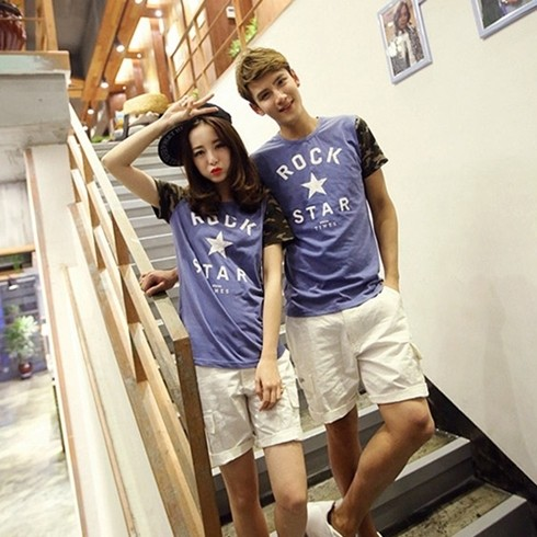 Áo Thun Cặp Đôi Kiểu Hàn Quốc