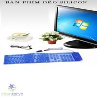 Bàn Phím Cuộn Silicon Dùng Cho Laptop, Máy Tính Bảng, PC - Hết hàng