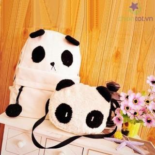 Ba Lô Vải Bố Kèm Túi Con Đeo Chéo Panda TX3940 - DT0024