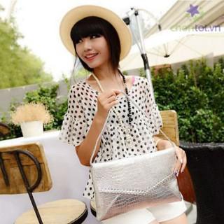 Ví Cầm Tay Bao Thư Dập Vân Nổi Thời Trang TX3956 - DT0024