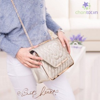 Ví Đeo Kiểu Dáng Chanel Nẹp Kim Loại 1121 (Góc Bẹt) TX3979 - DT0024