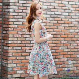 Đầm Họa Tiết Hoa Cổ Sơ Mi LV291 - DT0030