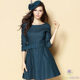 Đầm Jean Thu Đông LV293 - DT0024