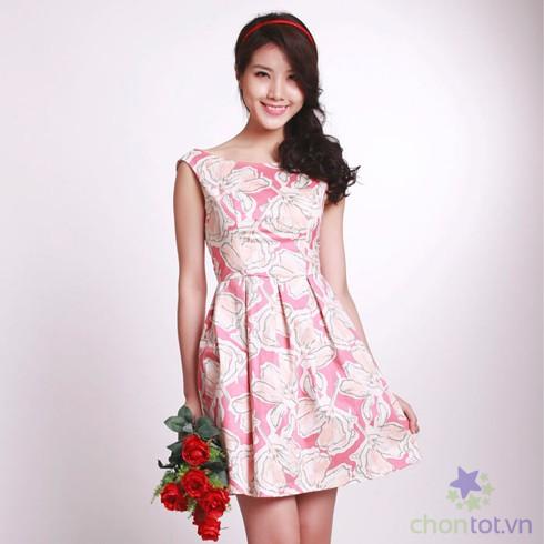 Đầm Kaki Họa Tiết Hoa LV281 - DT0024