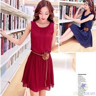 Đầm Vintage Cổ Xếp Ly ( Kèm Phụ Kiện) LV273 - DT0024