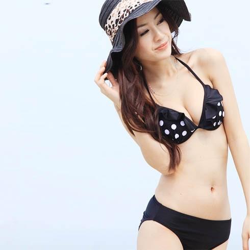 Bikini chấm bi trắng đen - DT0036