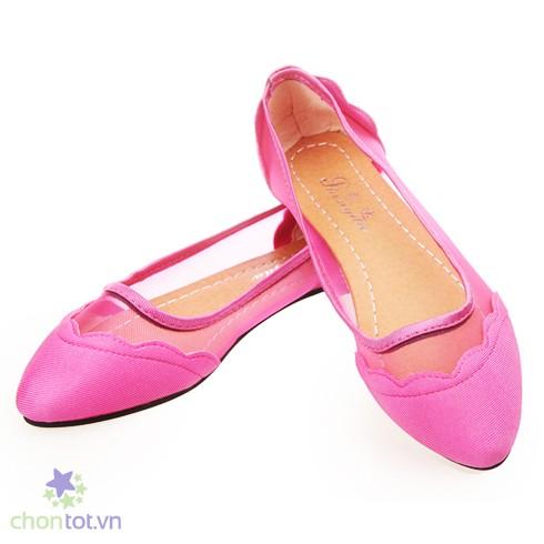 Giày búp bê phối lưới - DT0036