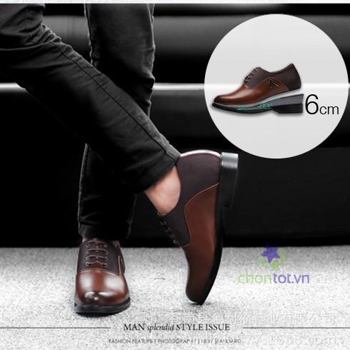 Giày da tăng chiều cao nam cao cấp - DT0036