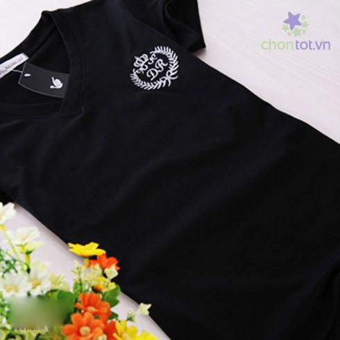 Áo Thun Nữ Cổ Tim Thiêu Logo Đặc Sắc - DT0036