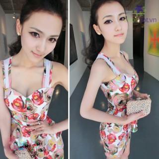 Đầm Body In Hoa - DT0036