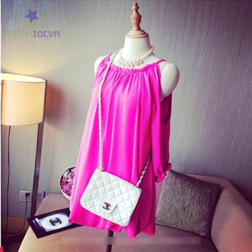 Đầm Hồng Cánh Sen - DT0036