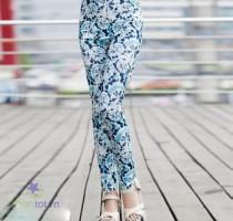 Quần legging hoa hồng - DT0036